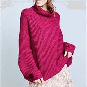 FREE PEOPLE OVERSIZE TURTLE NECK SWEATER